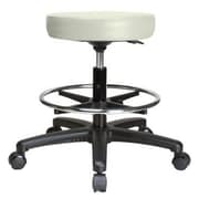 Perch Chairs & Stools Height Adjustable Swivel Stool w/ Foot Ring; Adobe White Vinyl