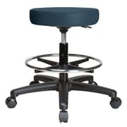Perch Chairs & Stools Height Adjustable Swivel Stool w/ Foot Ring; Colonial Blue Vinyl