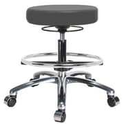 Perch Chairs & Stools Height Adjustable Massage Therapy Swivel Stool with Foot Ring; Cinder