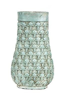 SagebrookHome Fleur De Lis Textured Vase; 19'' H x 11.5'' W x 8'' D WYF078278813104