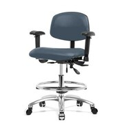 Perch Chairs & Stools 12'' Multi-Task Office Chair with Adjustable Armrests and Foot Ring; Newport