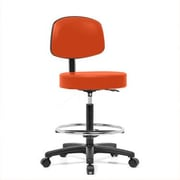 Perch Chairs & Stools Height Adjustable Exam Stool w/ Basic Backrest and Foot Ring