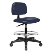 Perch Chairs & Stools Low-Back Drafting Chair; Imperial Blue Vinyl
