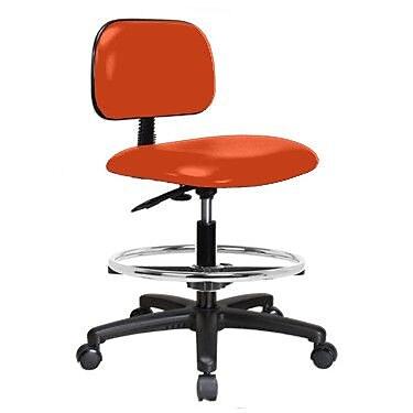 Perch Chairs & Stools Low-Back Drafting Chair; Orange Kist Vinyl WYF078279046360