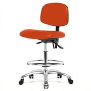 Perch Chairs & Stools 12'' Lab Chair with Foot Ring; Orange Kist