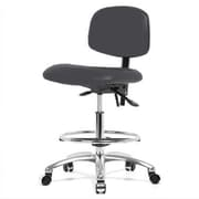Perch Chairs & Stools 12'' Lab Chair with Foot Ring; Charcoal