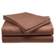 Ruthy's Textile 300 Thread Count 100pct Cotton Sheet Set; Chocolate
