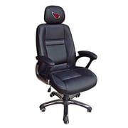 Tailgate Toss NFL 39'' H Leather Office Chair w/ Single Lever Seat Height Control; Atlanta Falcons