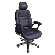 Tailgate Toss NFL 39'' H Leather Office Chair w/ Single Lever Seat Height Control; Buffalo Bills