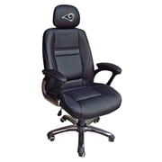 Tailgate Toss NFL 39'' H Leather Office Chair w/ Single Lever Seat Height Control; St. Louis Rams