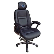 Tailgate Toss NFL 39'' H Leather Office Chair w/ Single Lever Seat Height Control; Tennessee Titans