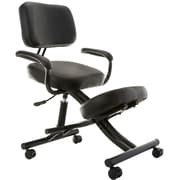 SierraComfort Ergonomic Kneeling Chair; Black