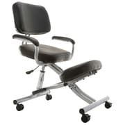 SierraComfort Ergonomic Low-Back Kneeling Chair; Silver/Black