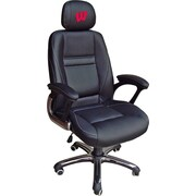 Tailgate Toss NCAA Office Chair w/ Lever Seat Height Control; Wisconsin Badgers