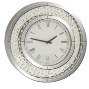 Cole & Grey 20'' Wood and Mirror Wall Clock
