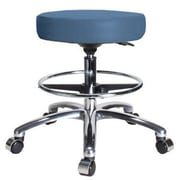 Perch Chairs & Stools Height Adjustable Swivel Stool w/ Foot Ring; Newport Fabric