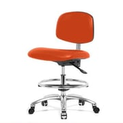 Perch Chairs & Stools Low-Back Drafting Chair; Orange Kist Vinyl