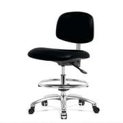 Perch Chairs & Stools Low-Back Drafting Chair; Black Vinyl