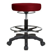 Perch Chairs & Stools Height Adjustable Stool with Foot Ring; Burgundy Vinyl