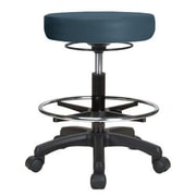 Perch Chairs & Stools Height Adjustable Stool w/ Foot Ring; Colonial Blue Vinyl
