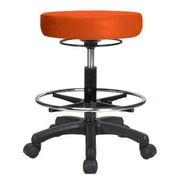 Perch Chairs & Stools Height Adjustable Stool w/ Foot Ring; Orange Kist Vinyl