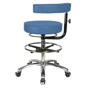 Perch Chairs & Stools Height Adjustable Dental Stool w/ Procedure Arm and Foot Ring; Newport Fabric
