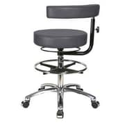 Perch Chairs & Stools Height Adjustable Dental Stool w/ Procedure Arm and Foot Ring; Charcoal Vinyl