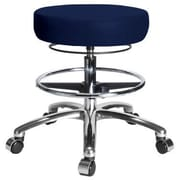 Perch Chairs & Stools Height Adjustable Medical Stool with Foot Ring; Imperial Blue