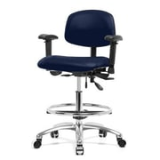 Perch Chairs & Stools 12'' Multi-Task Office Chair with Adjustable Armrests and Foot Ring; Imperial