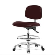 Perch Chairs & Stools 12'' Chair with Foot Ring; Burgundy