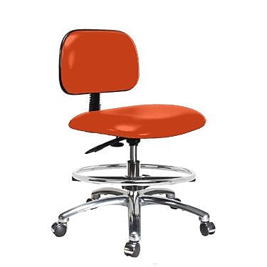 Perch Chairs & Stools Low-Back Drafting Chair; Orange Kist Vinyl WYF078279046203