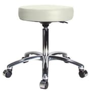 Perch Chairs & Stools Height Adjustable Swivel Stool; Adobe White
