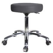 Perch Chairs & Stools Height Adjustable Swivel Stool; Charcoal Vinyl