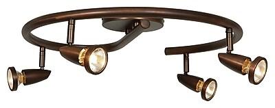 Access Lighting Mirage 4 Light Full Track Lighting Kit; Bronze WYF078279089353