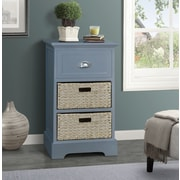 Gallerie Decor Newport 1 Drawer 2 Basket Chest; Gray