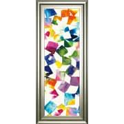 ClassyArtWholesalers 'Colorful Cubes II' by Wild Apple Portfolio Framed Graphic Art