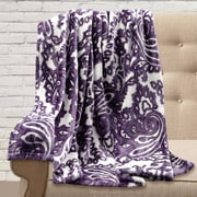 Maison Condelle Adrien Lewis Ultra Soft Printed Paisley Throw; Plum