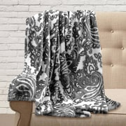 Maison Condelle Adrien Lewis Ultra Soft Printed Paisley Throw; Charcoal