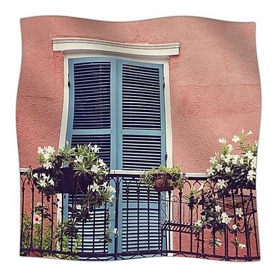 KESS InHouse New Orleans Balcony by Sylvia Cook Fleece Blanket