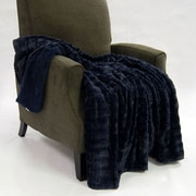 BOON Throw & Blanket Fulton Faux Fur Throw; Mood indigo