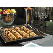 Artisan Square Stainless Steel Tray; 3.5'' H x 16.5'' W x 16.5'' D