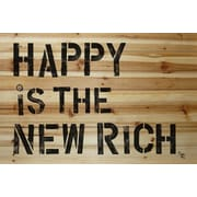 Marmont Hill Happy Is the New Rich by Tori Campisi Textual Art Plaque; 40'' H x 60'' W