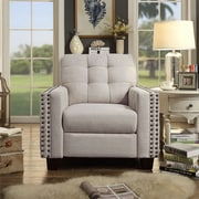 iNSTANT HOME Delicia Tufted Arm Chair; Beige
