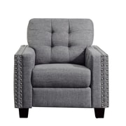 iNSTANT HOME Delicia Tufted Arm Chair; Gray