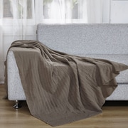 De Moocci Light Weight Knitted Throw Blanket; Brown Coffee
