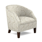 Handy Living Edgar Barrel Club Arm Chair; Taupe