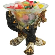Rivers Edge Cute Bears Glass Candy Dish