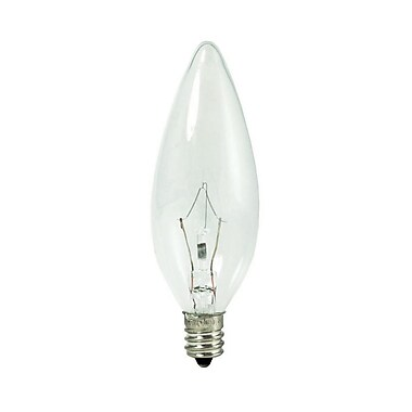 Bulbrite KRY B8 25W Dimmable Clear 2700K Soft White 10PK (460020)