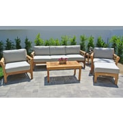 Willow Creek Designs Monterey 6 Piece Deep Seating Group w/ Cushion; Canvas Black
