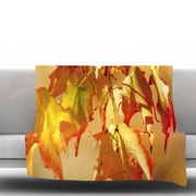 KESS InHouse Autumn Leaves by Angie Turner Fleece Throw Blanket; 40'' x 30''